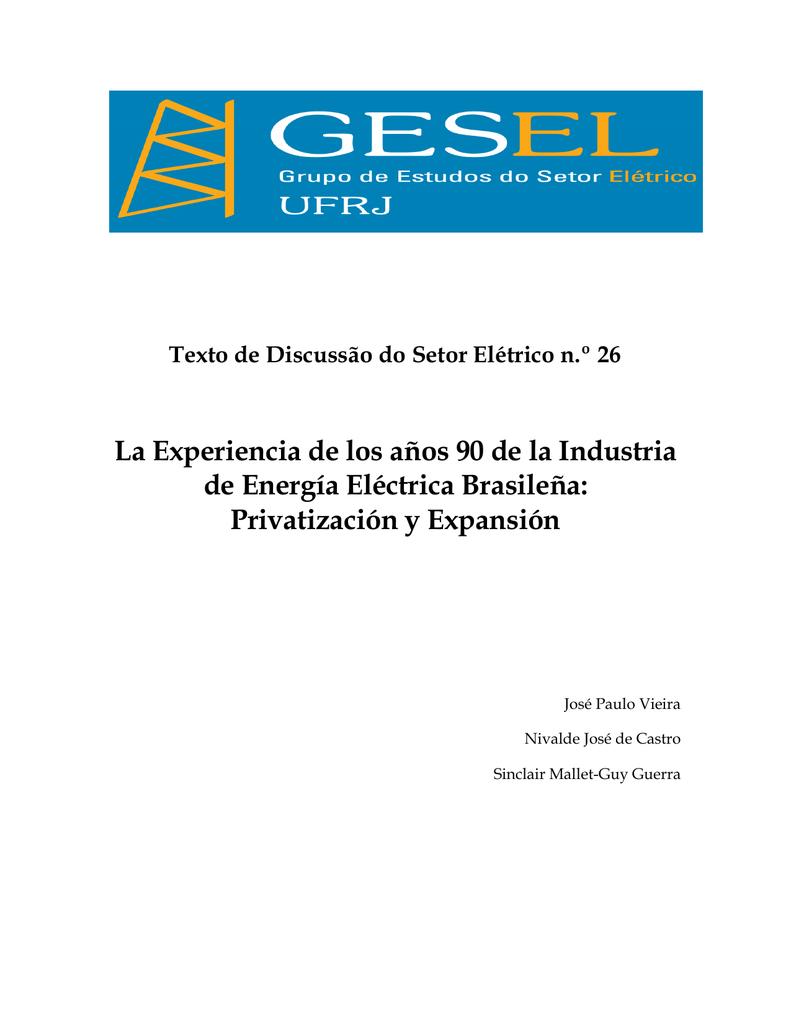 Privatización y Expansión - Gesel