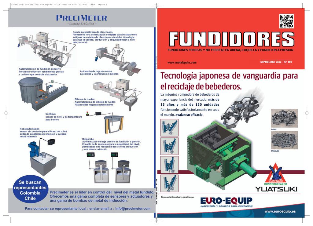 FUNDICIONES FERREAS Y NO FERREAS EN ARENA, COQUILLA Y