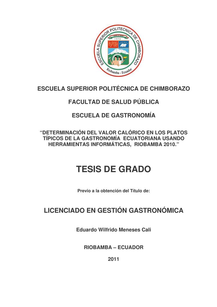 tesis de grado - DSpace ESPOCH  - Escuela Superior Politécnica