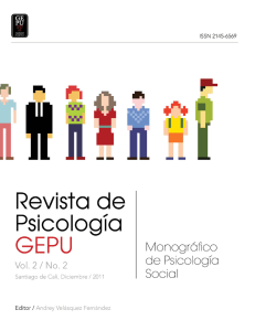 Revista de Psicología GEPU Vol.2 No.2