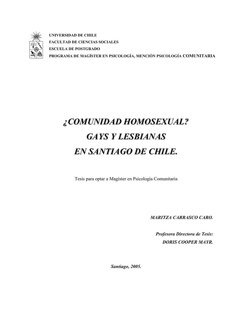 Gays y lesbianas en Santiago de Chile. Maritza
