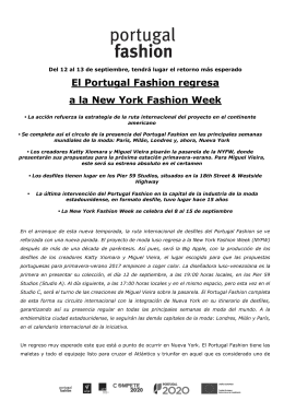 El Portugal Fashion regresa a la New York Fashion Week