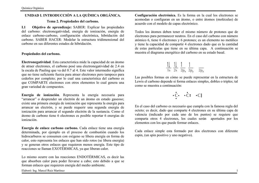 Unidad I Introducción A La Química