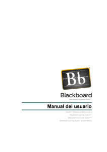 Manual del usuario - Behind the Blackboard