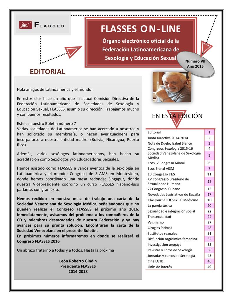 Boletín FLASSES 2014 2018 AES – Asociación de Especialistas