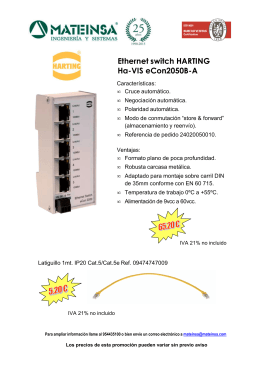 Switch Ethernet HARTING - eCon2050