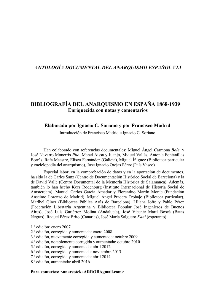 Bibliografadelanarquismoen Espaa1868