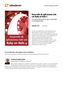 Desarrollo de aplicaciones web con Ruby on Rails 4