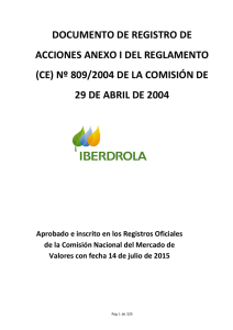 Documento de Registro de IBERDROLA, S.A.