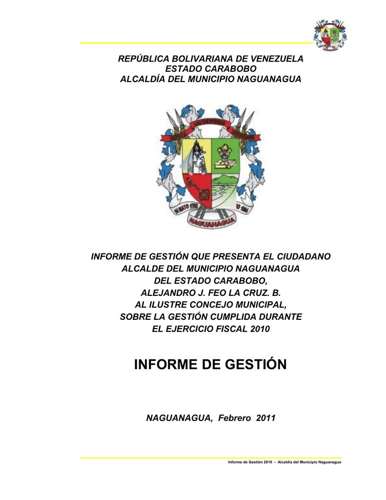 informe de gestión - Alcaldia Naguanagua