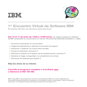 1er Encuentro Virtual de Software IBM