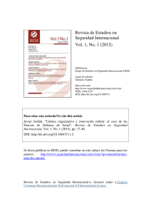 Revista de Estudios en Seguridad Internacional Vol. 1, No. 1 (2015)