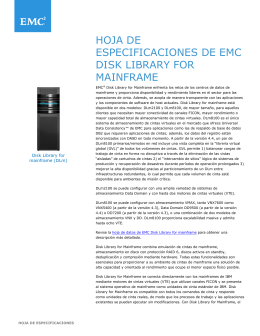 Disk Library for Mainframe - mexico.EMC.com