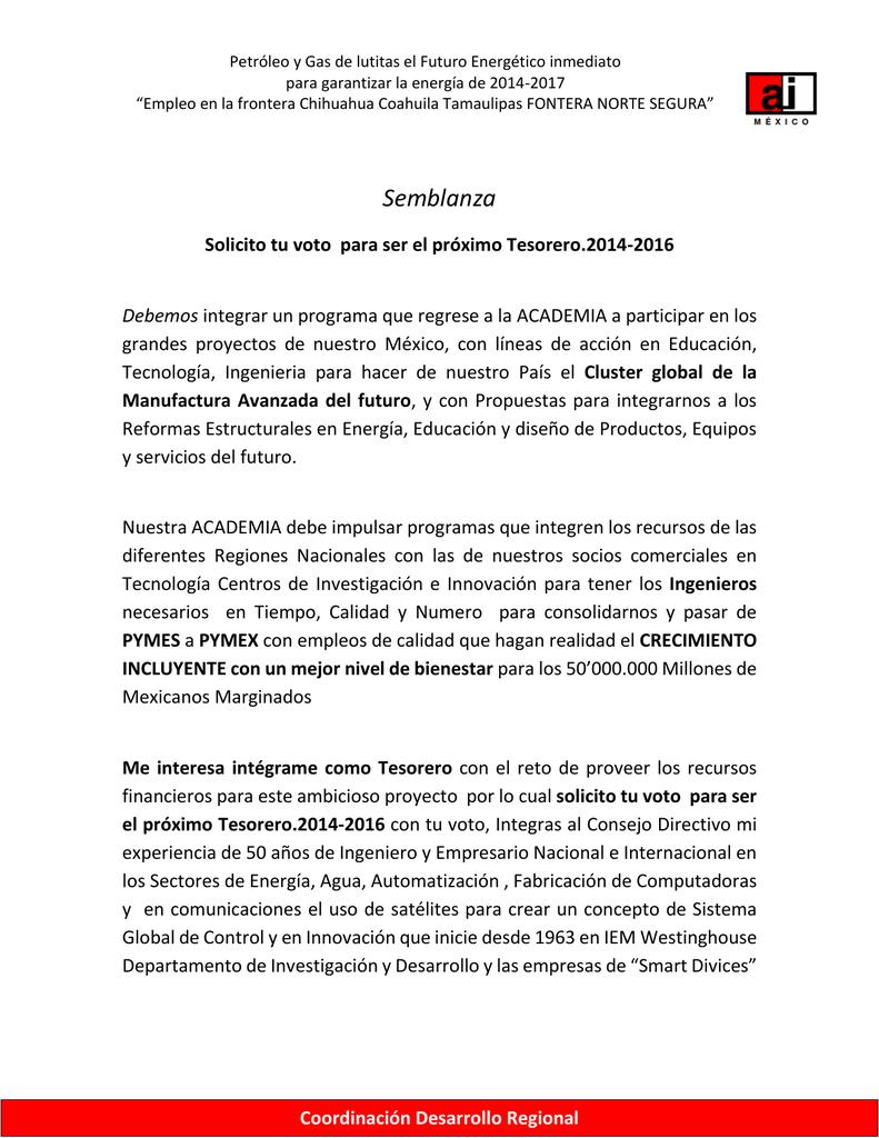 Ing. José Manuel Flores Hernández Semblanza Curricular y Plan de