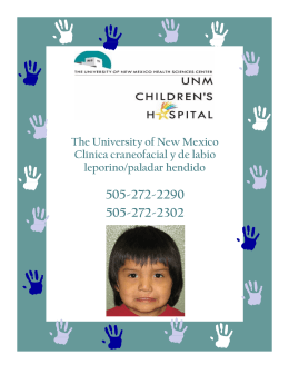 The University of New Mexico Clínica craneofacial