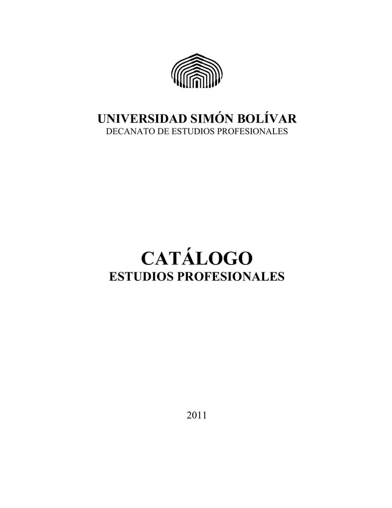 catálogo estudios profesionales - Decanato de Estudios Profesionales