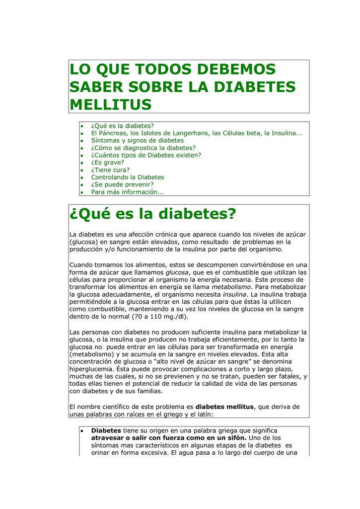 diabetes en griego