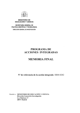 memoria final - Universidad de Navarra