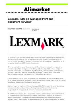 Lexmark, líder en `Managed Print and document services`