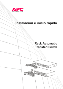 Draft 7 - Rack Automatic Transfer Switch Installation and Quick Start