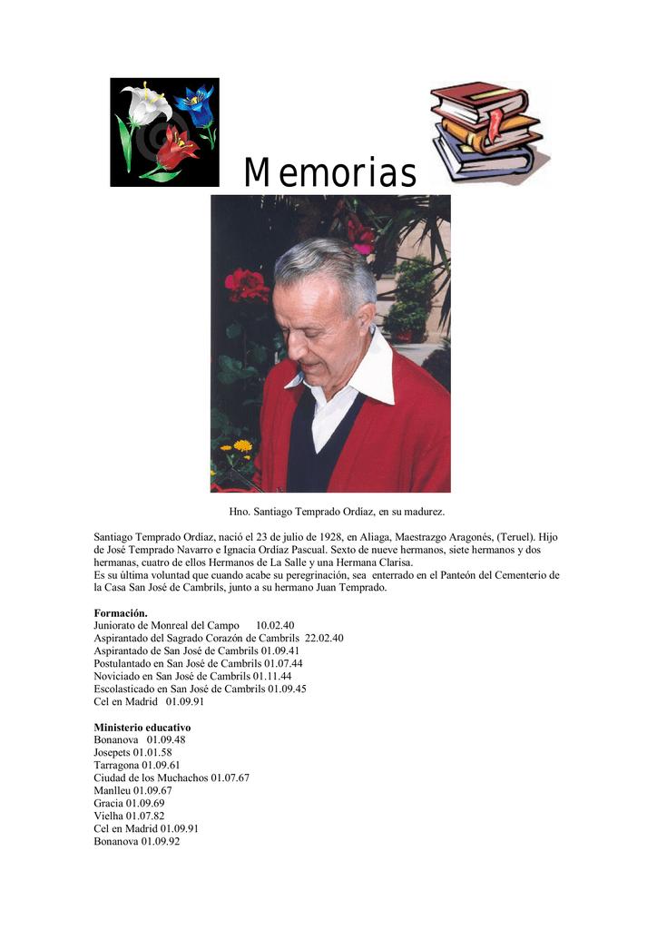 Memorias - Santiago Temprado