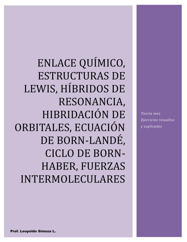 Enlaces Químicos Estructuras De Lewis E Hibridación De