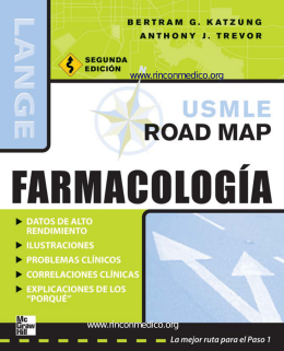 USMLE Road Map Farmacologia