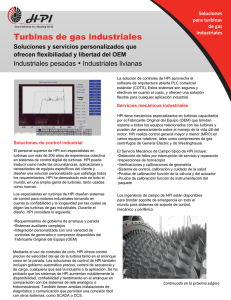Turbinas de gas industriales
