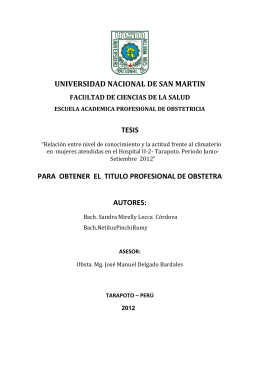 Documento - Universidad Nacional de San Martín