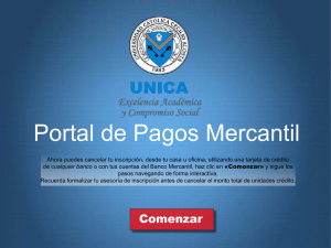 instructivo de pago de «botón mercantil