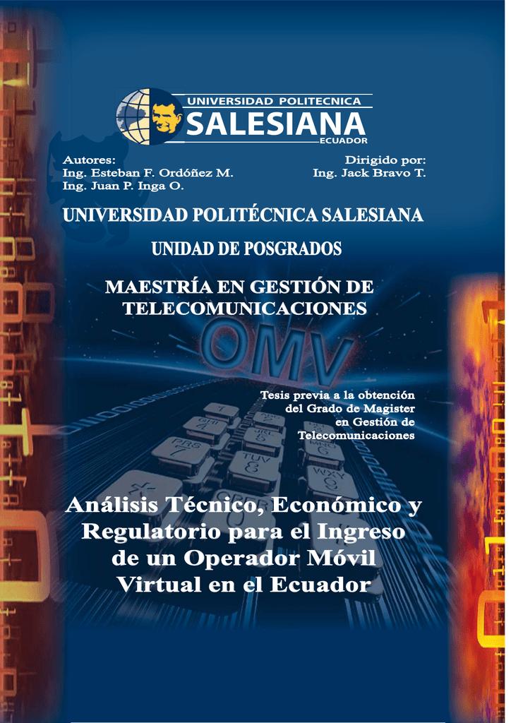 57f9a81f32a Análisis técnico, económico y regulatorio para el ingreso de un