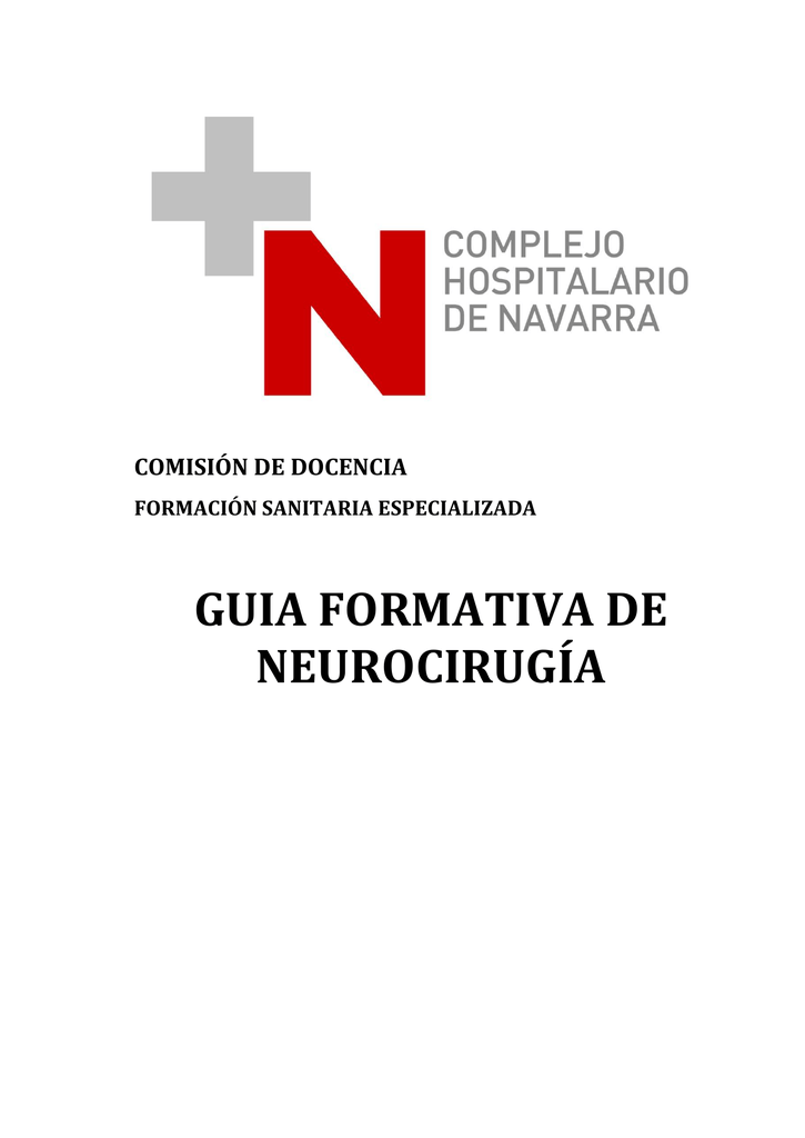 GUIA FORMATIVA DE NEUROCIRUGÍA