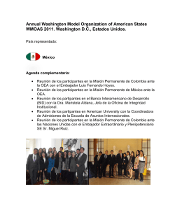 Annual Washington Model Organization of American States WMOAS