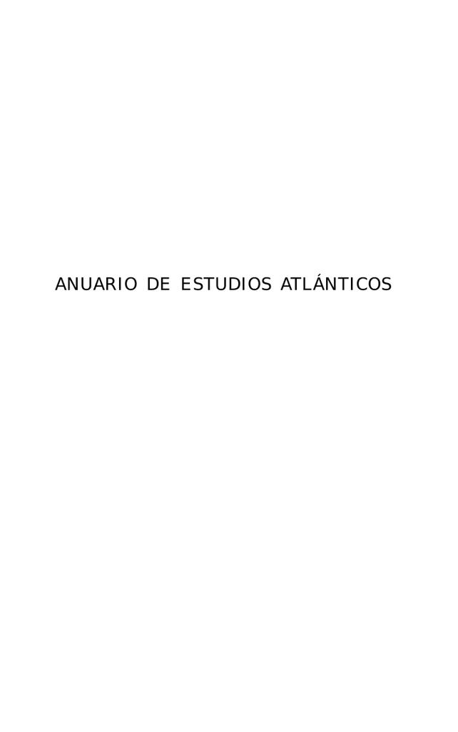 Anuario de Estudios Atlánticos