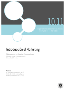 Introducción al Marketing - Departamento de Comercialización e