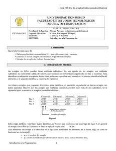 IP Practica 09: Uso de matrices en C