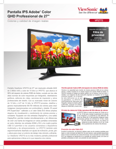 Pantalla IPS Adobe® Color QHD Professional de 27
