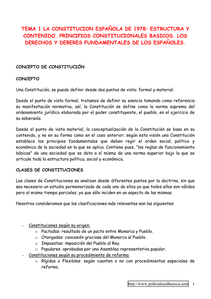 Tema 1 La Constitucion Espaola De 1978