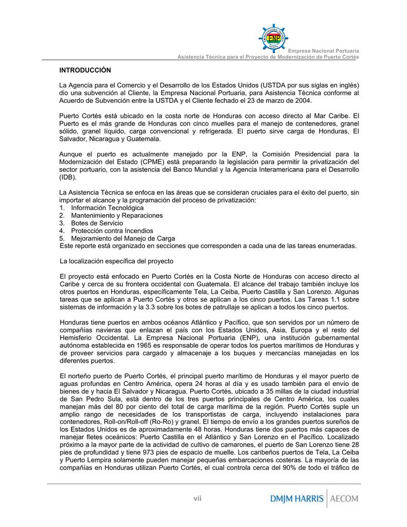 Table of Contents - Empresa Nacional Portuaria