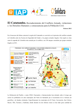 Catatumbo Informe Feb2012 - International Action for Peace