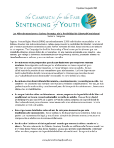 Updated August 2015 www.fairsentencingofyouth.org Los Niños