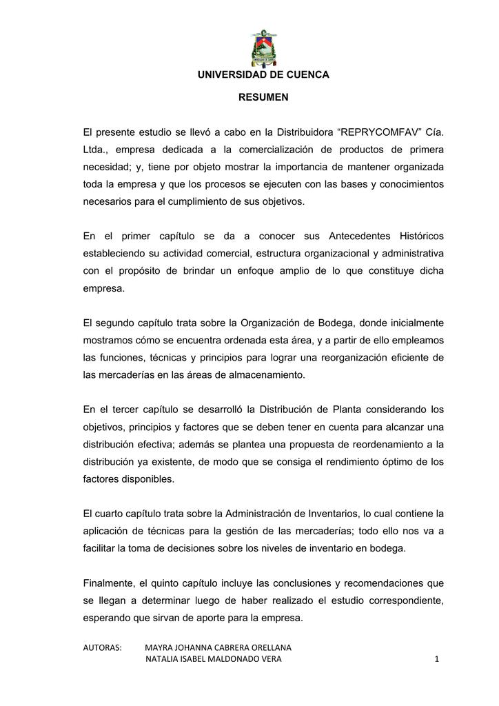 Reprycomfav Cía Ltda Empresa De