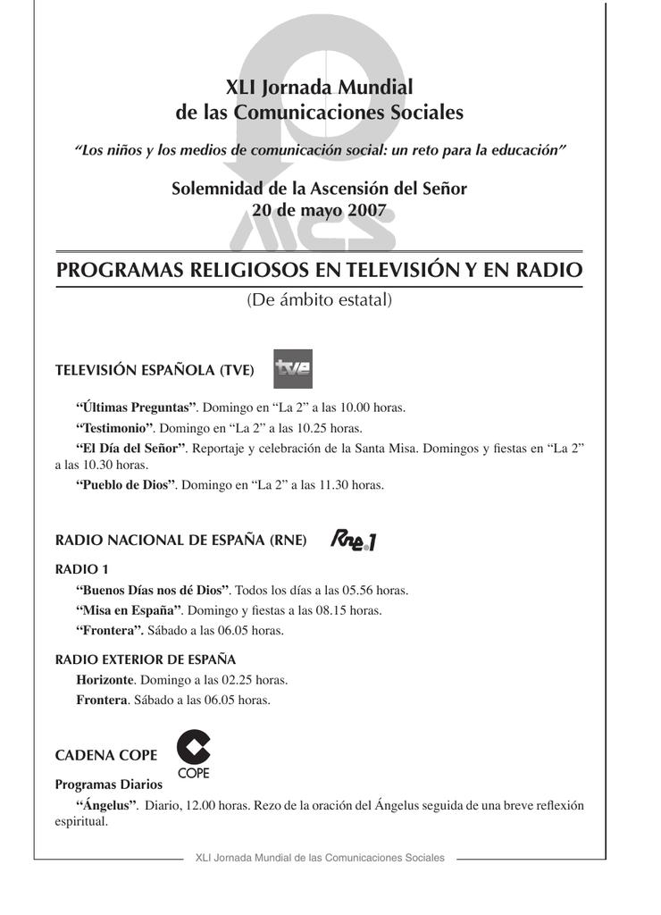 Programas Religiosos Diócesis De Teruel Y Albarracín