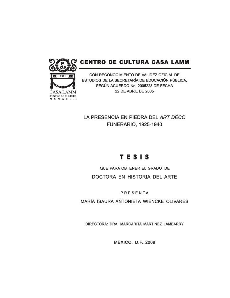 La Presencia En Piedra Del Art Déco Funerario 1925
