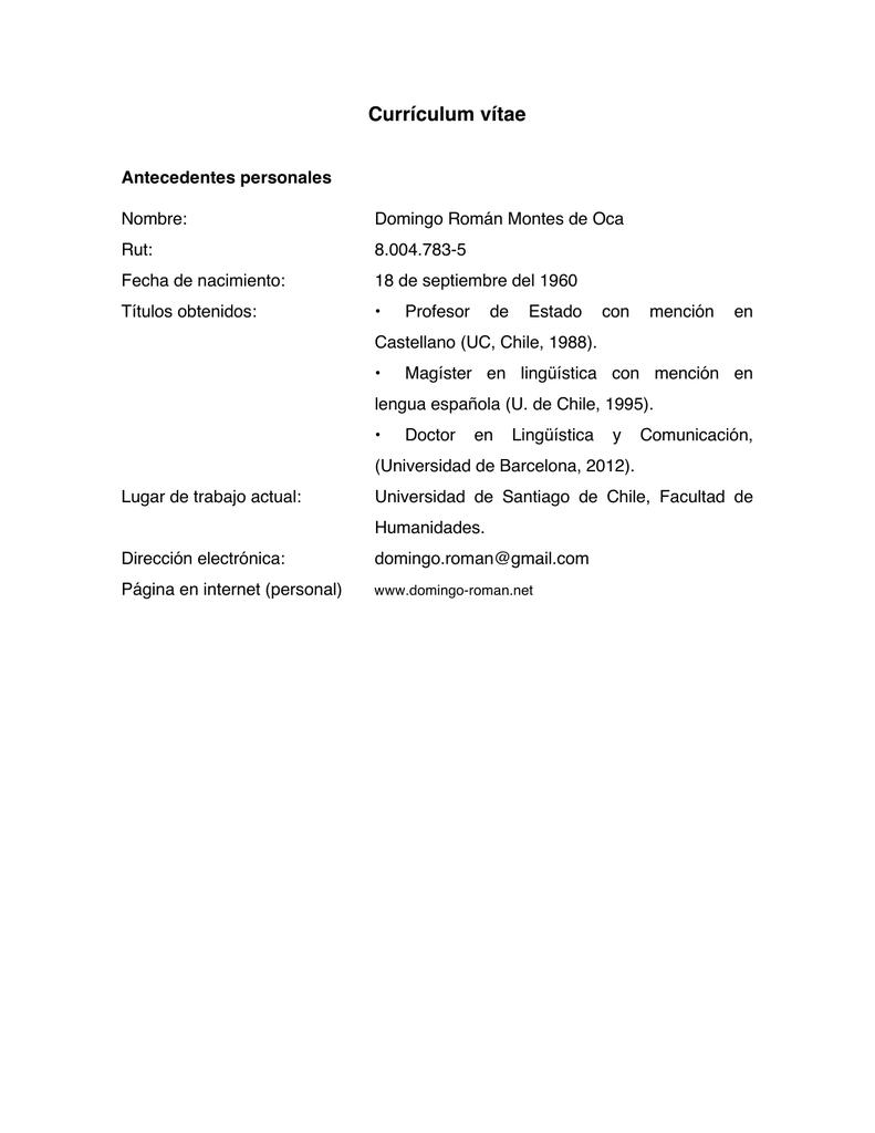 Currículum vítae