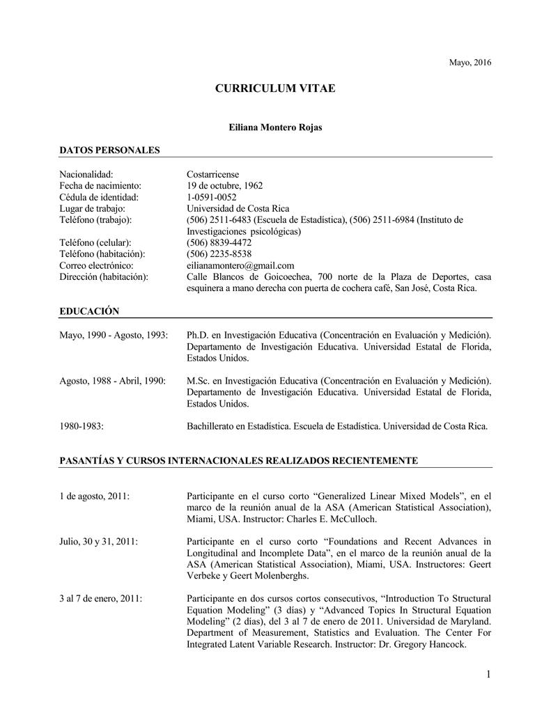 CV Completo - Instituto de Investigaciones Psicológicas