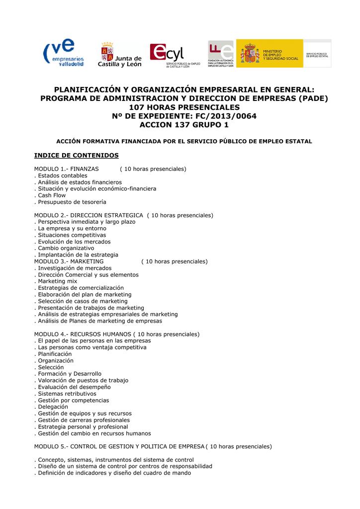 Programa De Administracion Y Direccion De Empresas Pade
