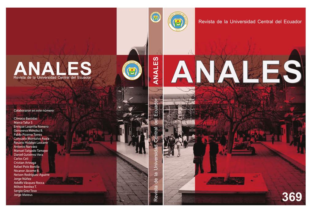 anales - Biblioteca UCE - Universidad Central del Ecuador