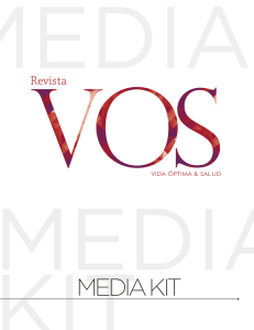 media kit - Revista VOS