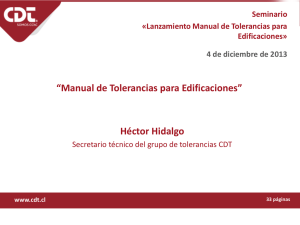 """Manual de Tolerancias para Edificaciones"" Héctor Hidalgo"
